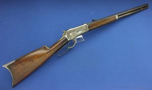 An excellent Antique Winchester Model 1886 Rifle, made in 1888, 38-56 Caliber and 26 inch octagonal barrel. In near mint condition. Price 4.975,- euro