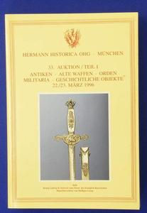 Hermann Historica catalog 22 marz 1996, 912 pages. Price 25 euro