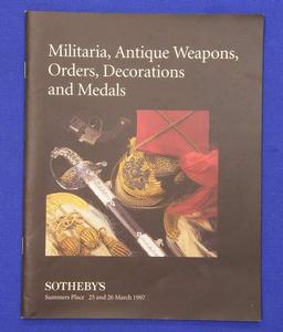 Sotheby's catalog 25 march 1997, 53  pages .Price 15 euro