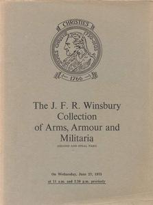 Christie's catalog Winsbury Collection 27 june 1973, 95 pages. Price 30 euro