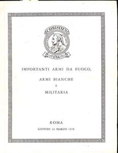 Christie's Catalog Rome 16 march 1978, 58 pages. Price 20 euro