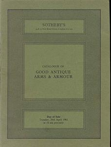 Sotheby's Catalog 20 april 1982, 70 pages. Price 20 euro