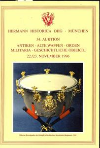 Hermann Historica Catalog 22 november 1996, 878 pages. Price 30 euro