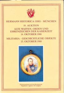 Hermann Historica Catalog 14 oktober 1988, 600 pages. Price 30 euro