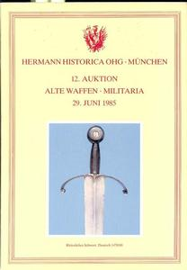 Hermann Historica Catalog 29 juni 1985, 150 pages. Price 15 euro