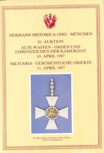 Hermann Historica Catalog 10 april 1987, 500 pages. Price 25 euro