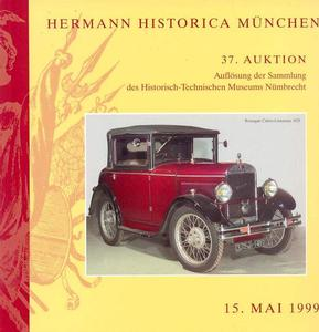 Herman Historica Catalog 15 mai 1999, 252 pages . Price 20 euro
