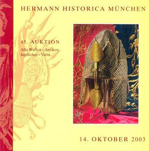 Hermann Historica Catalog 14  oktober   2003, 360 pages. Price 20 euro