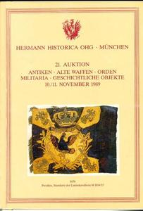Hermann Historica Catalog 10 november 1989, 700 pages. Price 30 euro