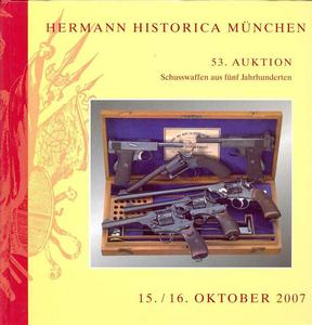 Hermann Historica Catalog 15 oktober   2007, 570 pages. Price 30 euro