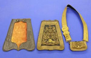A very nice antique set of an English Swordbag and a Ciberne. Price 1.700 euro