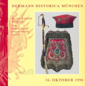 Hermann Historica catalog 16 oktober 1998, 45 pages, price 25 euro
