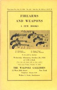 The Walpole Galeries Catalog 15 oktober 1926, 43 pages. Price 20 euro