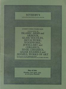 Sotheby's Catalog 23 april 1979,  85 pages. Price 20 euro