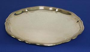 A very nice probably German Silver Salver, diameter 27 cm, in very good condition. Price 500 euro reduced to 395 euro