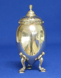 A very nice English Silver Sugar Caster, Birmingham 1948, height 13.5 cm, in very good condition. Price 450 euro reduced to 370 euro