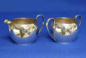 A very nice Sterling Silver Sugar & Creme Set, height 7 cm, in very good condition, Price 160 euro reduced to 115 euro