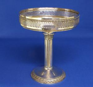 A very nice German Silver Tazza, height 21 cm, in very good condition. Price 250 euro reduced to 195 euro