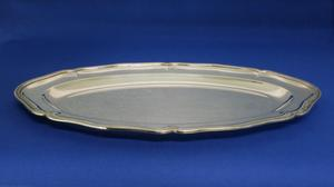A very nice Silver Meat Serving Dish with unknown markings and ASTRAIN, length 40 cm, in very good condition. Price 350 euro reduced to 275 euro