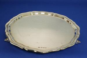 A very nice English Silver Salver, Sheffield 1948, diameter 25.5 cm, in very good condition. Price 550 euro reduced to 450 euro
