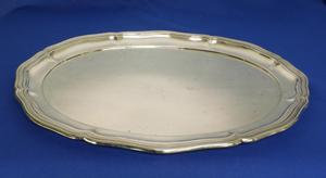 A very nice German Silver Serving Dish, length 40 cm, 800 with unknown marks, in very good condition. Price 750 euro reduced to 595 euro