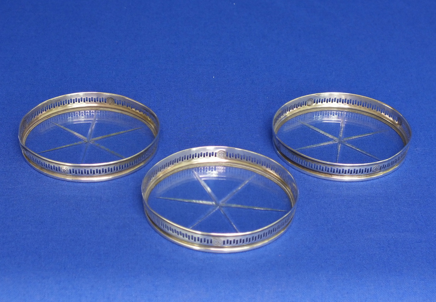 Three Sterling Silver Coasters