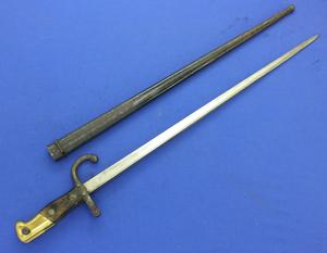 A very nice antique French Gras model 1874 Bayonet, on the blade St Etienne 1878, length 66 cm, in good condition. Price 130 euro