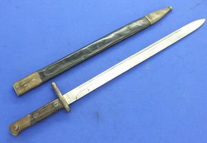 A very nice antique Spanish Bayonet M 1913, ARTILLERIA NATIONAL TOLEDO, length 55 cm, in very good condition. Price 110 euro
