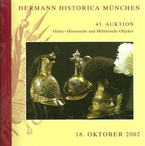 Unused Hermann Historica Catalog 18 oktober 2002, 480 pages. Price 25 euro