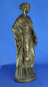 A very nice antique 19t century Bronze Sculpture of a Woman, height 44 cm. Price 500 euro