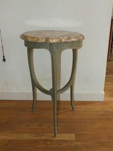 A very nice 19th Century antique Table with marmor blade, height 77 cm. Price 575 euro