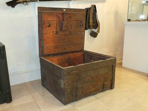 A very nice 17th Century antique Wrought Iron Strongbox, 72x62x40 cm. Price 1.750 euro