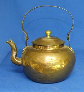 A very nice antique Dutch 19th Century Swing Handle Tea Kettle