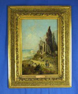 A very nice 19th centuryantique Painting on canvas of an Italian Landscape by A.COSTO. Price 1.150 euro