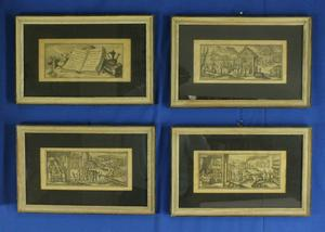 A very nice collection of four Antique Gravures by Pieter van der Borcht (1545-1608). Price 600 euro