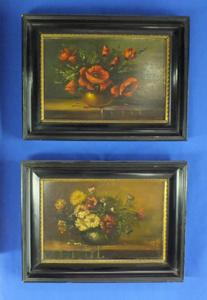 A very nice pair 20th century Flower Paintings. Price 295 euro