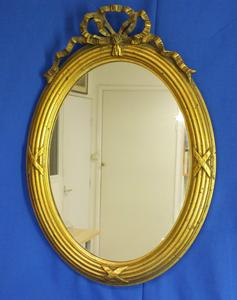 A very nice antique 19th Century Mirror, heigth 53 cm. Price 150 euro