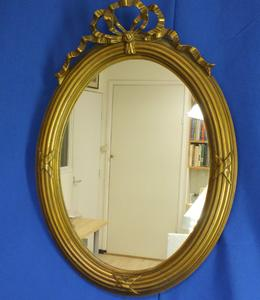 A very nice antique 19th Century Mirror, heigth 52 cm. Price 150 euro