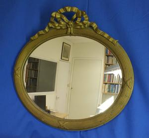 A very nice antique 19th Century Mirror, heigth 54 cm. Price 195 euro