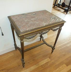A very nice antique 19th Century French Table with a marmor blade, heigth 75 cm, wide 72 x 51 cm. Price 575 euro