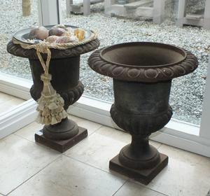 A very nice antique pair of two Garden Vases, heigth 45 cm,. Price 400 euro