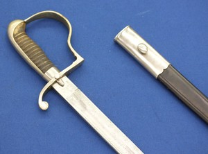 A fine antique 19th century Dutch Police Sword, with Berlin Silver hilt and mounts, signed W.K. & C, (Weyersberg Kirschbaum & Cie Solingen). length 72 cm, in very good condition. Price 400 euro