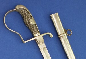 A fine antique 19th century German Officers Sword, length 97 cm, in very good condition. Price 400 euro