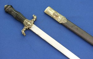 A fine antique probably French Hunting Sword with on the hilt an