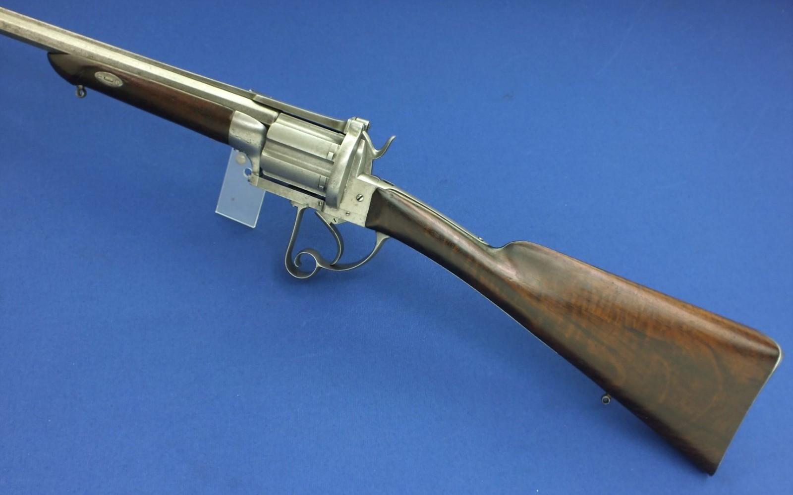 A rare antique probably Italian large caliber 6 shot ...
