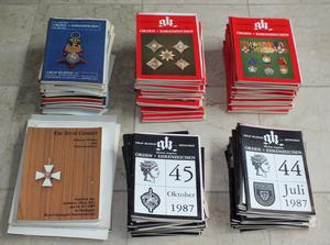 A very interesting Lot of 175 German Catalogues Orden und Ehrenzeichen from Graf Klenau of the sixties till eighties,  Total price 175 euro.