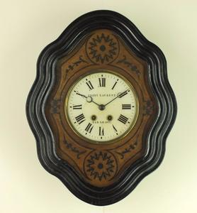 A very nice 19th century antique French wall Clock signed Friry Laurent a Bar  Le Duc.height 51 cm. Price 875 euro