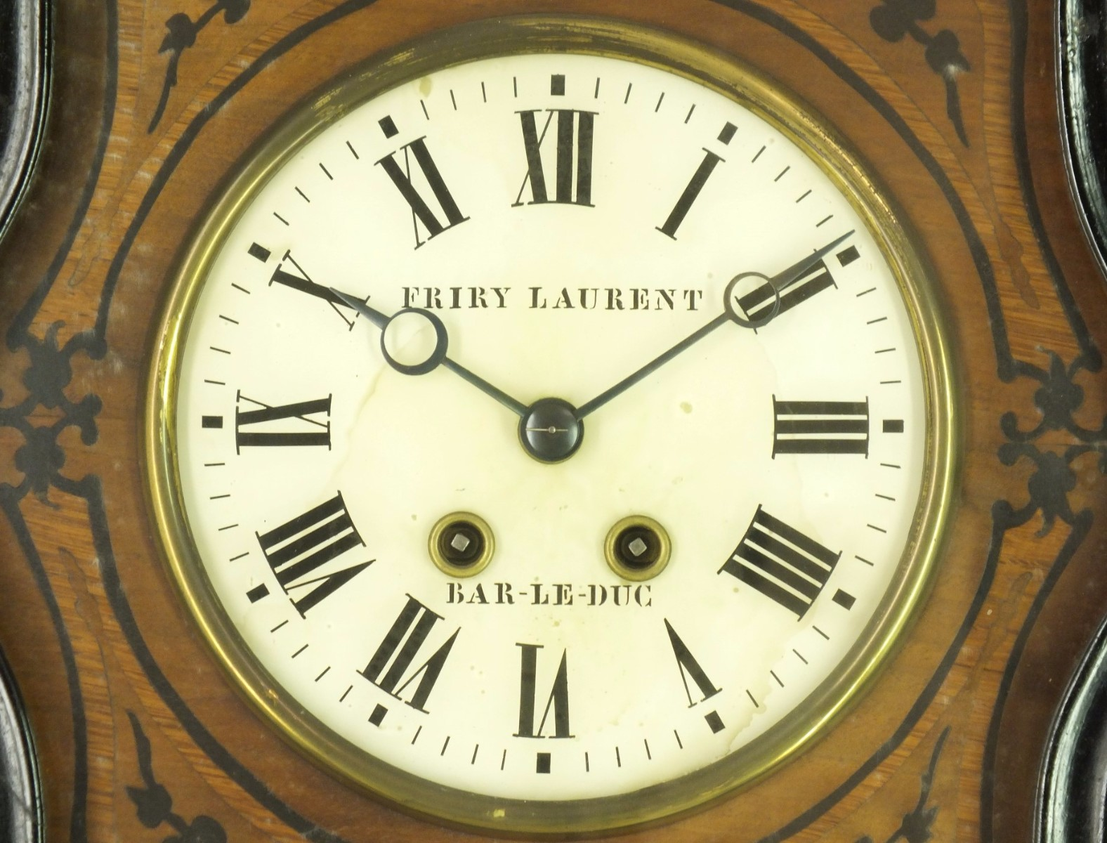 a very nice 19th century antique french wall clock signed friry laurent a bar le 51. Black Bedroom Furniture Sets. Home Design Ideas