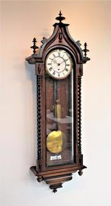 A very nice 19th Century German Wall Clock by Gustav Becker,  height 120 cm, Price 950 euro.