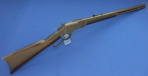 A very nice and scarce antique American Winchester Model 1873 Rifle in .22 short Caliber with 24 inch octagonal Barrel with clear address. In good condition. Price 4.250,- euro